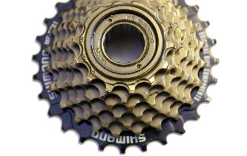 SHIMANO TZ21 Freewheel -Piñones atornillarles (7 velocidades, 14-28 Dientes, 470 g)