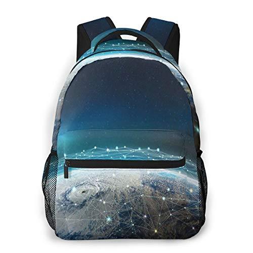 Rucksack Männer und Damen, Laptop Rucksäcke für 14 Zoll Notebook, Globales soziales Netzwerk Kinderrucksack Schulrucksack Daypack für Herren Frauen