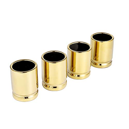 Yuwoda 50 Cal Bullet Gold Shot Glass - 2 Ounces Best Cool Shot Glasses Set, Man Cave Stuff