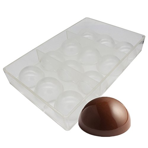 Goldbaking Bola de chocolate molde de policarbonato molde de chocolate (medio 2 pulgadas)