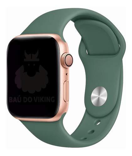 Pulseira Silicone Sport Esportiva, compatível com Apple Watch (Verde Pinheiro, 40mm Pequeno)