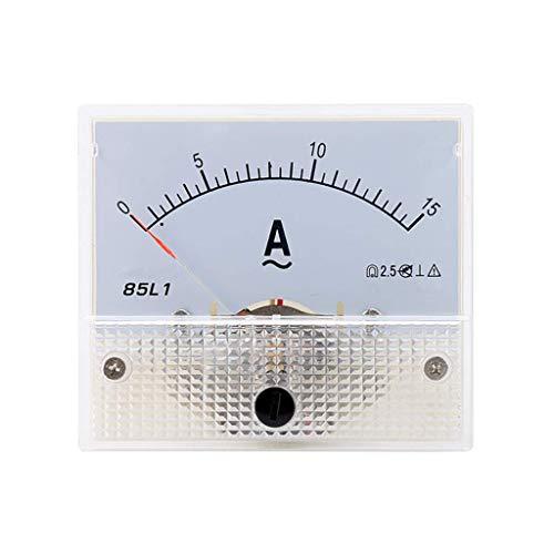 Sweo Zeiger-Ameter, 85L1 AC Panel Meter Analog Panel Amperemeter Dial Current Gauge Pointer Amperemeter, 15A, One size