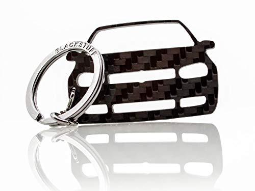 BlackStuff Llavero De Fibra De Carbono Cadena De Claves Compatible con Golf GTI Mk4 1997-2003