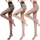 Yuson Girl Calze Autoreggenti Donna 15 DEN 3 pezzi Light Legs Collant Donna Compressione fresco per il comfort estivo supporto collant per le donna Transparenti