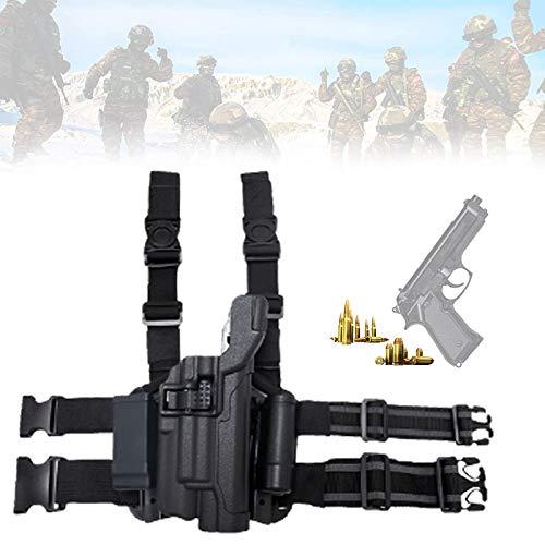 Eortzzpc Tactical Funda para Pierna caída para Pistola, Soporte para Muslo, Funda para Dispositivo de Leggings,con Correa de Velcro Ajustable, Perfectamente a la mayoría de Las Pistolas de Mano