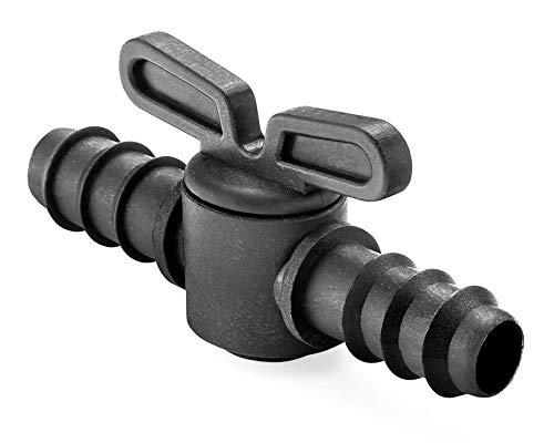 Abrisa Llave de paso para riego, Negro, 16 mm