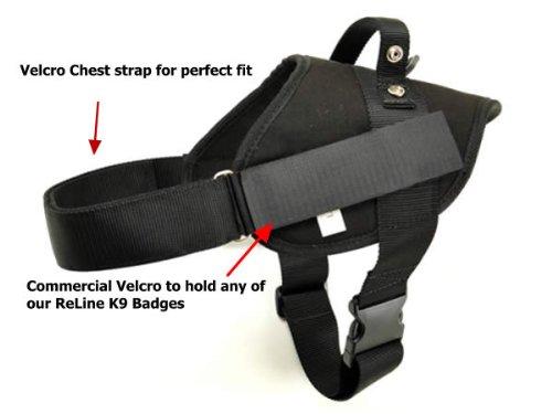 Redline K9 Nylon Patrol Dog Harness Large - Girth L 32'-40'
