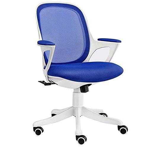 GAO-bo Silla ergonómica para Escritorio de Oficina, Silla giratoria para computadora, Silla ejecutiva con Respaldo de Malla Ajustable en Altura (Color : D)
