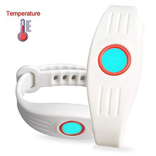 Sock Montre Enfant pour Garçons Filles Montre Numérique avec contrôle de la température,IP67 étanche,Surveillance Continue 24h,Mesure précise ± 0.1 ℃