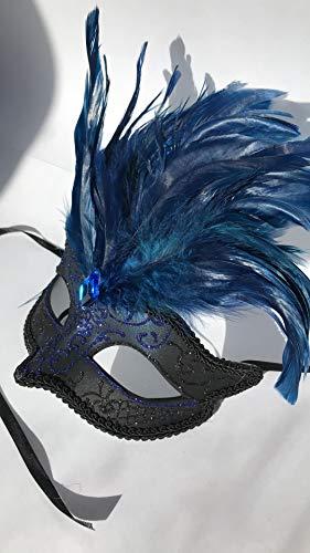 BLEU NOIR OR et BRONZE vénitien masque de mascarade pour les yeux CARNAVAL