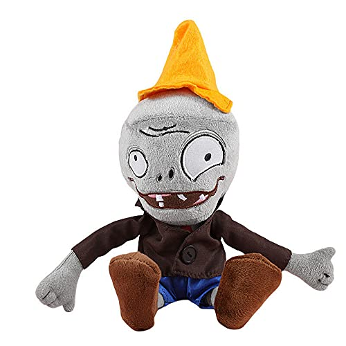 """Zombie Plush Toys from Plants Vs Zombies, Zombie Stuffed Plush Toys 11"""" Tall, Plush Small Soft Doll Toys (Conehead Zombie)"""