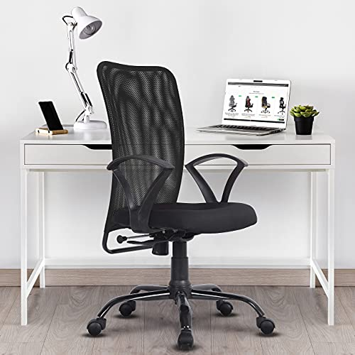 Green Soul Seoul Mid Back Office Study Chair in Breathable Mesh with Multi Color Options (Smart Black)