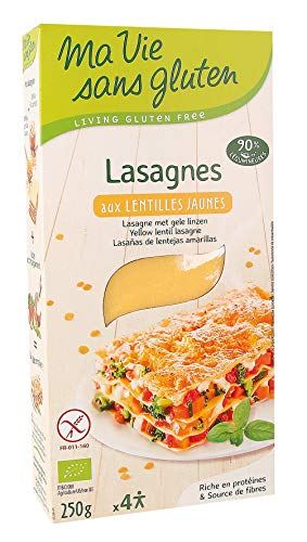 Ma Vie Sans luten Lasagnes aux Lentilles Jaunes - Bio - 250 g - 1 Unité