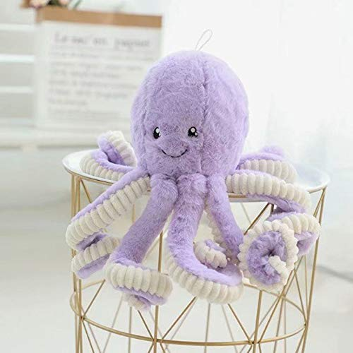 Knuffel Smiley Octopus Octopus Doll Kinderen Doll Gift 80cm paars