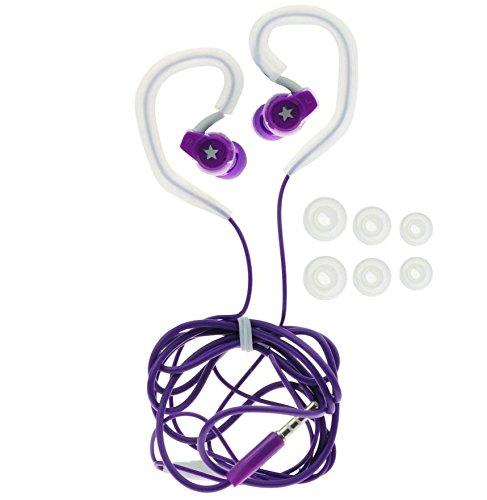Sport / Jogging Ohrbügel Kopfhörer Headset mit 6x Silikon Aufsatz