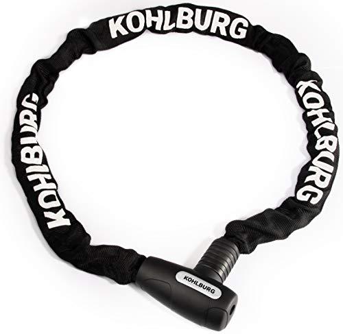 KOHLBURG lucchetto a catena lunga - catena lunga 107 cm e spessore di 6 mm - lucchetto a clic per bicicletta con chiave per bicicletta