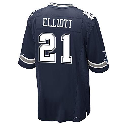 Dallas Cowboys Ezekiel Elliott Nike Navy Game Replica Jersey