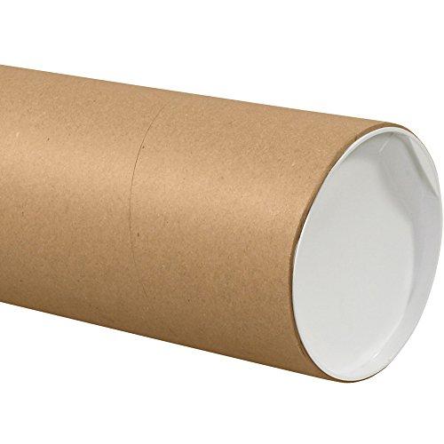 """Jumbo Mailing Tubes, 6"""" x 36"""", Kraft, 10/Case"""