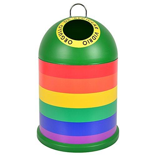 Miniglu World Pride Bandera Mini Contenedor para Reciclado, Plástico Inyectado, Verde, 29x29x46 cm