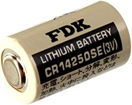 Exell Battery 3V 1/2 AA CR14250SE High Capacity Laser Lithium Button Top Battery Replaces FDK CR14250SE, Sanyo CR12450 SE, Sanyo CR14250, Sanyo CR14250SE, Varta 6127, Varta CR 1/2 AA, Varta CR 1/2AA