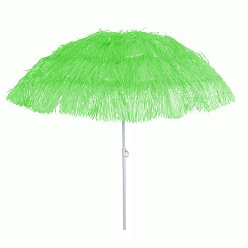 BURI Bast-Sonnenschirm Strandschirm Hawaiischirm Gartenschirm Party Schirm Bastschirm, Farbe:hellgrün