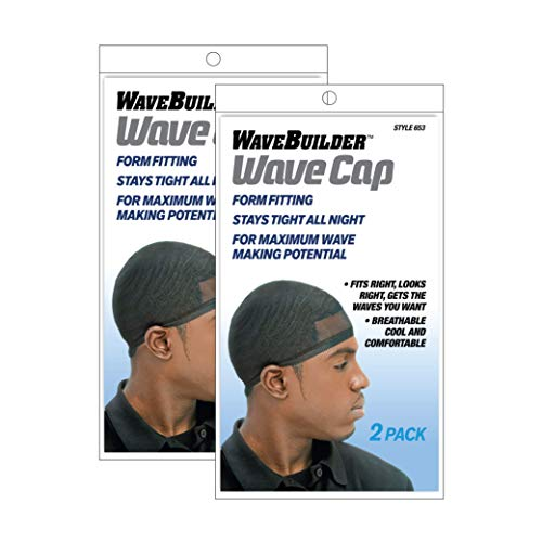 Wavebuilder Wave Cap, Black, 2 Packs of 2 (4 Total)