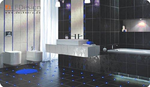 8x Fliesen LED 3mm Fuge Licht Beleuchtung inkl. Trafo Fugenlicht Kreuz Fliesenlicht (blau)