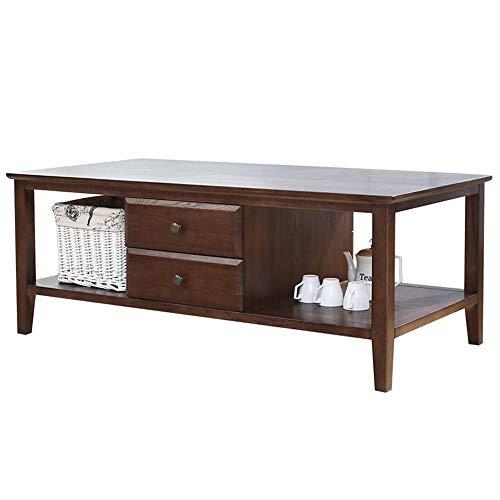 Mesa de té Mesa de madera multi-funcional mesa lateral de la sala Mesa auxiliar nórdica de madera maciza Mesa de fabricante de la pintura de la correa de almacenamiento de té mesa de la sala Sala de e