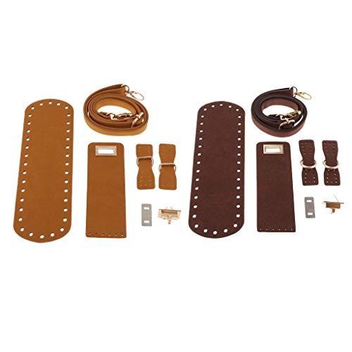 menolana 2X bolsa de couro tipo faça você mesmo, capa de aba, bolsa de bloqueio de fivela, bolsa para fazer suprimentos