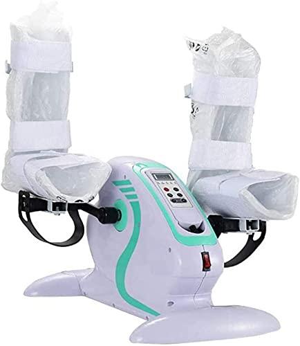 LCJD Ejercitador de Pedal para Bicicleta estática Debajo del Escritorio - Ejercitador de Pedal eléctrico para Bicicleta de Ciclo de rehabilitación de piernas/Brazos Máquina de Ejercicio con ped