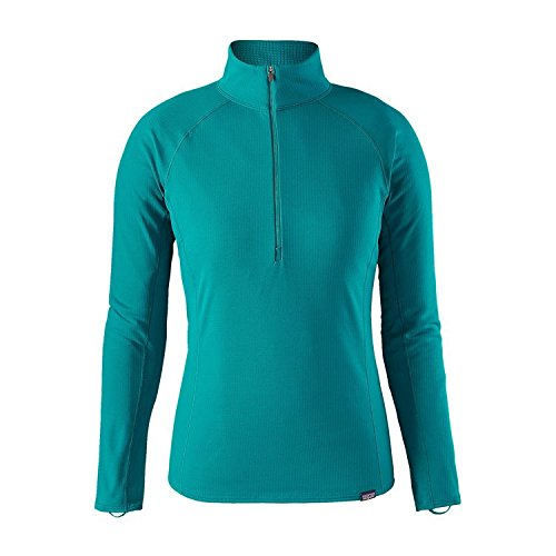 Patagonia Cap MW Zip Neck T-Shirt pour Femme L Bleu (elwha Blue)