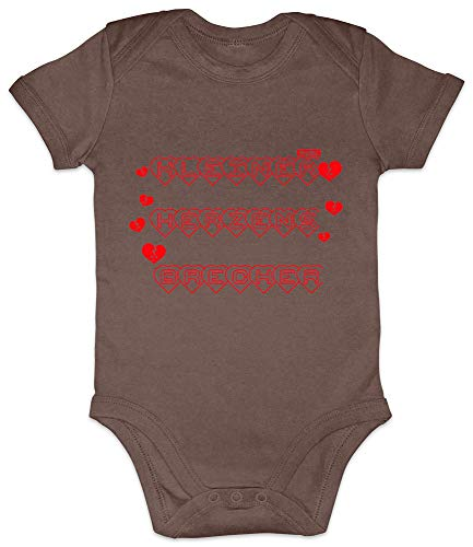 Hariz - Body de manga corta para bebé, diseño con texto en alemán Tarjetas de regalo para el día de la madre. rosa marrón Talla:0-3 meses
