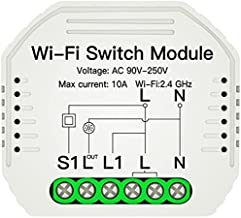 PROCOT SMART WiFi Smart On/Off Switch Module - Universell 1-Vägs Dold Omkopplare - Works with Alexa, Google Home, Apple Si...