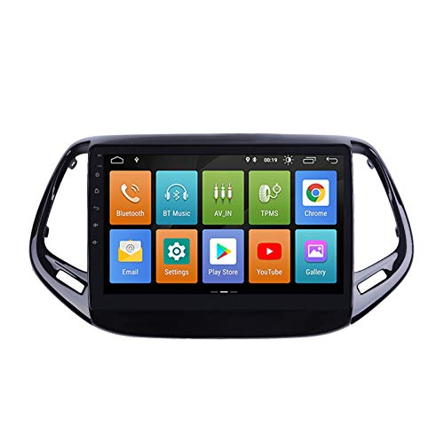 ESTOCK1 JEEP COMPASS ANDROID 10.0 2 din 9 pollici Car Tablet Radio Multimedia Wi-Fi GPS Radio stereo mp3