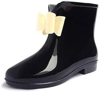 MEIGUIshop Rain Boots - Bow Slip Resistant wear-Resistant Waterproof Tube rain Boots