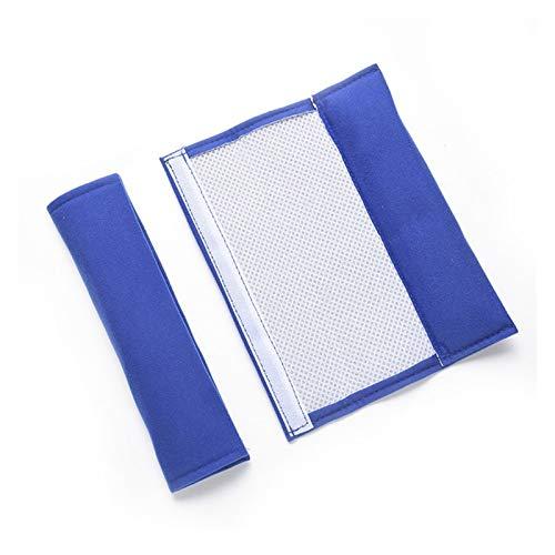 FangFang 1 Par De Cinturón De Cinturón De Asiento del Protector del Automóvil De 1 Par De 1 Par del Hombro del Cinturón De Seguridad Portátil Acolchado (Gris Claro) (Color Name : Blue, Size : XXL)