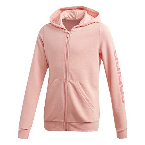 adidas Mädchen YG E LIN FZ HD Sweatshirt, rosglo, 152 (11/12 años)