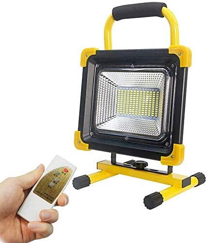 GANE Tragbare 600-W-LED-Flutlichter mit Fernbedienung, wiederaufladbares Superhell-LED-Flutlicht 25800 mAh, 3 Helligkeitsmodi, USB-Anschluss für die Arbeit