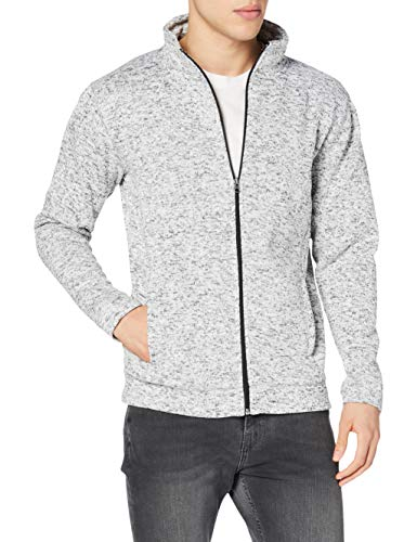 Stedman Apparel Active Knit Fleece Jacket/ST5850 Sweat-Shirt, Gris Clair mélangé, XXL Homme