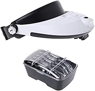 YASE-king LED Lamp Light Headband Headset Head Jeweler Magnifier Magnifying Glass Loupe