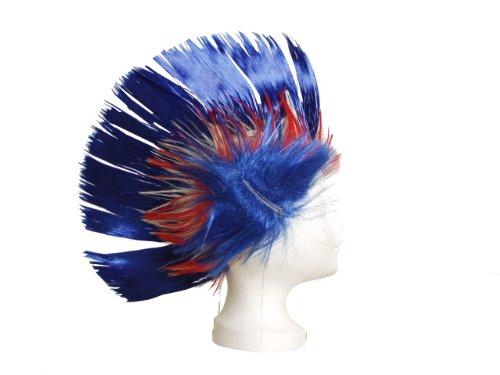 BRUBAKER Frankreich Fan Perücke Irokese NEU! Iro-Perücke in Frankreichs Nationalfarben Blau Weiß Rot!