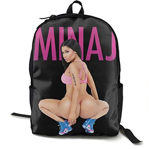 Dana J Lessard Nicki Minaj Backpack Campus School Bag Casual Backpack Gym Travel Hiking Canvas Backpack