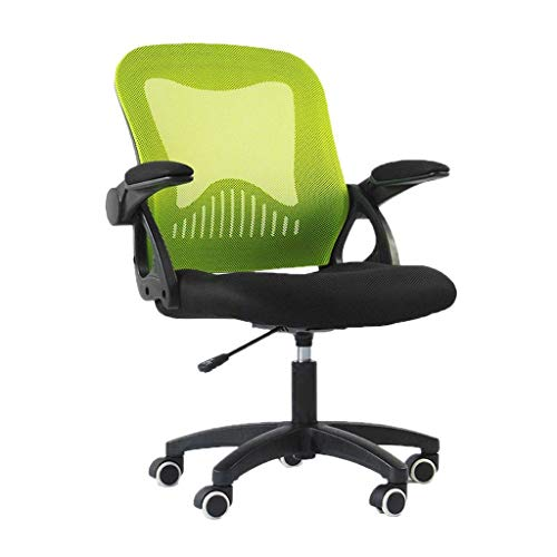 WY office chair Student's chair back comfort waterproof chair back not easy to wash hand chair back computer system chair back staff chair back office chair ( Color : Green )