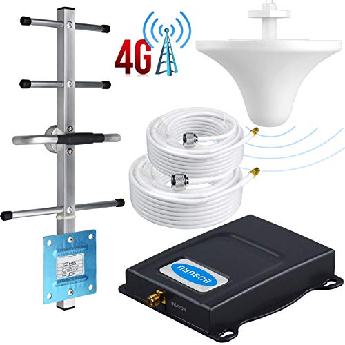 Cell Phone Signal Booster AT&T Signal Booster Amplifier Band 12/17 T-Mobile 4G LTE 700Mhz ATT Cell Signal Booster AT&T Cell Phone Booster Repeater ATT Cell Booster BOSURU with Antenna Kit for Home