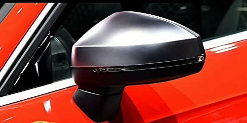 MAX Carbon - Carcasa para espejos retrovisores (carbono, mate, aspecto de aluminio, para A3 S3 RS3 8V sin Side Assist)