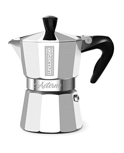 Bialetti 0005092 Espressokocher Aeterna für 3 Tassen, Aluminium, Silber, 30 x 20 x 15 cm
