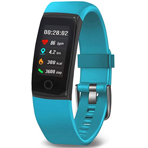 MorePro Fitness Tracker Waterproof Activity Tracker with Heart Rate Blood Pressure Monitor, Color Screen Smart Bracelet with Sleep Tracking Calorie Counter, Pedometer Watch for Kids Women Men (Green)
