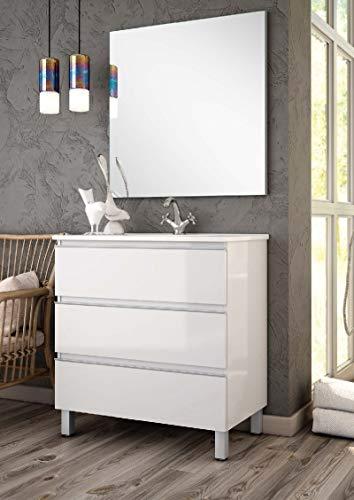 Aquore Mueble de Baño con Lavabo y Espejo | Mueble Baño Modelo...