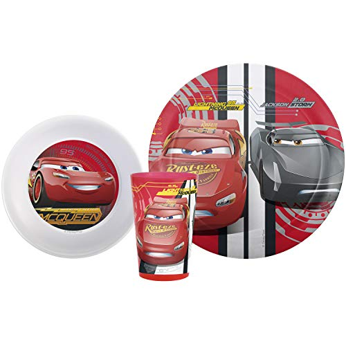 Zak Designs Cars 3 Plate-Bowl-Tumbler 3 Piece Windowbox Set