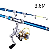 Ohyoulive Fishing Rod Reel Combos Carbon Fiber Telescopic Sea Saltwater Freshwater Kit